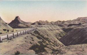 South Dakota Wall Chief Big Foot Pass The Badlands National Monument Albertype