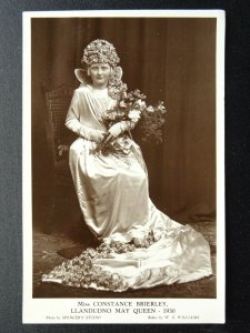 Wales LLANDUDNO MAY QUEEN Miss Constance Brierley c1930 RP Postcard