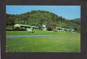 NC Boundary Tree Motor Court Motel Cherokee Indians North Carolina Postcard