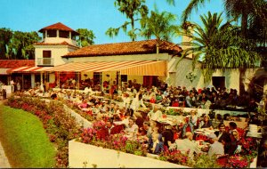 Florida Cypress Gardens Colorful Palm Dining Terrace Overlooking Lake Eloise
