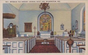 Interior Old Swedes Church Built 1698 Wilmington Delaware