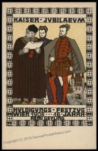Wiener Werkstaette Nr181 Artist Remigus Geyling 1908 Kaiser FJ Anniversary 71197