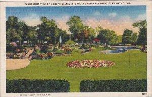 Panoramic View Of Adolph Jaenicke Gardens Fort Wayne Indiana