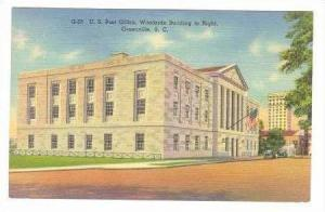 US Post Office, Woodside Building, Greenville, SC, 1938