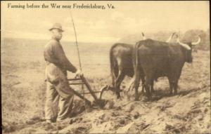 Near Fredericksburg VA Farming Before the Civil War c1910 Postcard