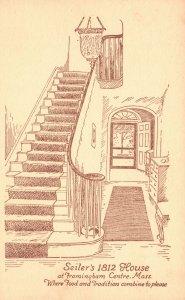 Vintage Postcard 1910's Seiler's 1812 House Framingham Center Massachusetts MA