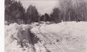 RP: Au Train, Michigan, 1930-1950s; Snow Scene