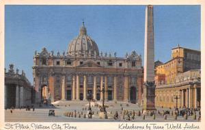 Italy Old Vintage Antique Post Card St Peter's, Vatican City Rome Writin...