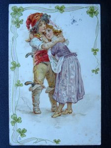 Romance WHEN ALL IS YOUNG Boy Pirate & Girl c1903 UB Postcard Raphael Tuck 834 V
