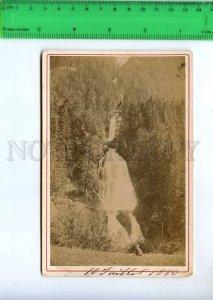 242396 SWITZERLAND Giesbach Brienz 1880 y Braun cabinet photo