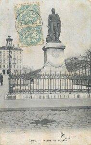 Postcard France Lyon statue de Suchet