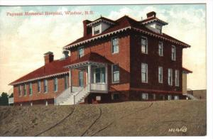 WINDSOR , Nova Scotia , Canada , 00-10s ;Payzant Memorial Hospital