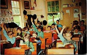 Postcard PA Pennsylvania Lancaster County Amish School Interior Class