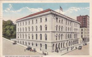Post Office And Custom House, RICHMOND, Virginia, PU-1919