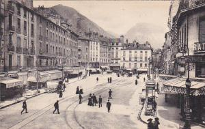 PARIS, France, 1900-1910's; Town Scene, Cafe Durand, Magazine Stand, Store Fr...
