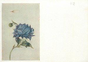 Iran miniature a blue flower  Postcard