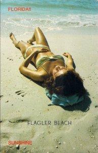 Flagler Beach FL, Beautiful Woman, Sexy Bikini Girl on Beach, Swimsuit