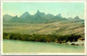 Arizona Postcard The Needles, Colorado River FRED HARVEY #11594 / 1921 Cancel