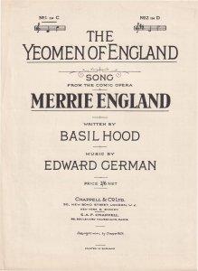 The Yeomen Of England Merrie England Olde Sheet Music