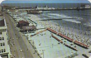 New Jersey Atlantic City Panoramic View Of Boardwalk And Beach