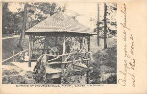 F23 Moundsville West Virginia Postcard Spring 1911 Gazebo Kids 22