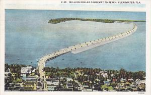 Million Dollar Causeway to beach , CLEARWATER , Florida , 1910s