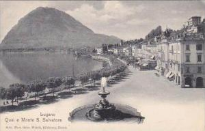 Switzerland Lugano Quai e Monte San Salvatore