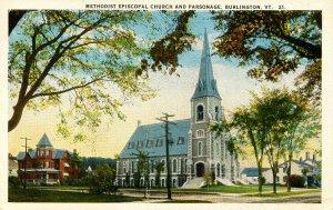VT - Burlington. Methodist Episcopal Church & Parsonage