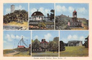 Canada Scenes around Halifax, Nova Scotie, Citadel, Memorial Tower Multiviews