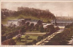 Scotland Edinburgh Castle & National Galleries