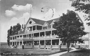 Syracuse NY~Double Porch & Wide Dormers @ Angler's Club on Oneida Lake 1908
