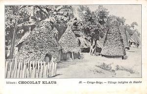 DR Congo Belge, Village indigene de Mupele, Chocolat Klaus