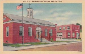 Massachusetts Wareham Post Office And Makepeace Building