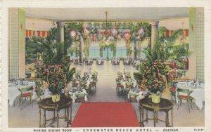 CHICAGO , Illinois ,1930-40s ; Marine Dining Room, Edgewater Beach Hotel