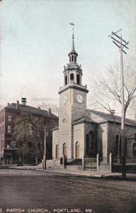 PORTLAND, Maine, 1900-1910's; I. Parish Church