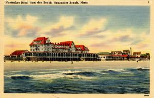 MA - Nantasket Beach. Nantasket Hotel from the Beach