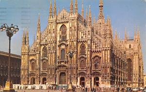 Italy Old Vintage Antique Post Card Milan The Cathedral 1973