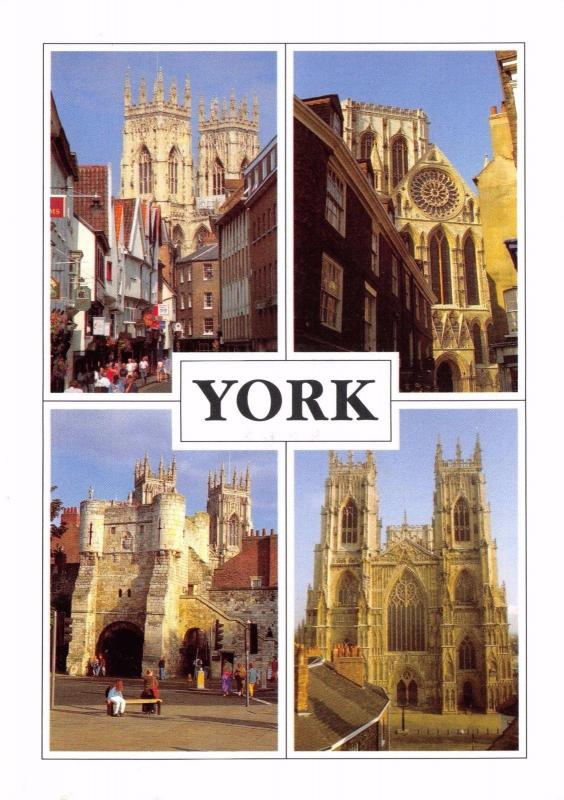 Postcard YORK 4 x Multiview by Newman Publications #Y