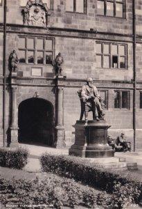 Charles Darwin Statue Shrewsbury Old 1950s Real Photo Postcard