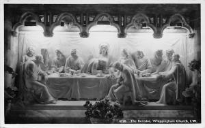 Isle of Wight The Reredos, Whippingham Church Eglise Sculptures