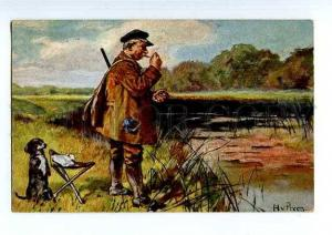 127984 DACHSHUND Hunt HUNTERS & POINTER by PREEN vintage PC
