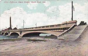 Indiana South Bend Jefferson Street Bridge 1908