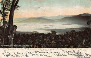 LAND OF THE SKY NC~PISGAH FROM EAGLES NEST~1906  HACKNEY & MOALE PUBL POSTCARD