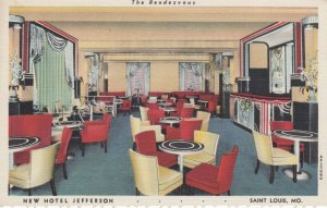 ST LOUIS , Missouri , 1930-40s ; New Hotel Jefferson , The Rendezvous