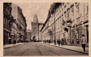 Tour De La Pondre Et Rue d'Hyberne, Prague, Czech Republic, 1910-1920s