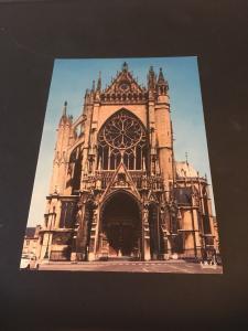 Vintage Postcard: France Metz Facade De La Cathedral - St Etienne