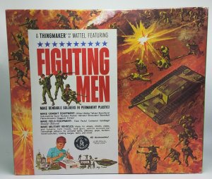 Vintage 1965 Thingmaker Fighting Men Box and Styrofoam Only #4481