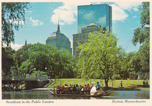 Massachusetts Boston Swanboat In The Public Garden