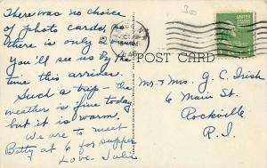 Nashua New Hampshire~First Congregational Church~1946 Postcard