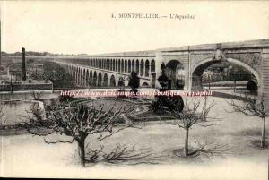 Montpellier - L & # 39Aqueduct - Old Postcard